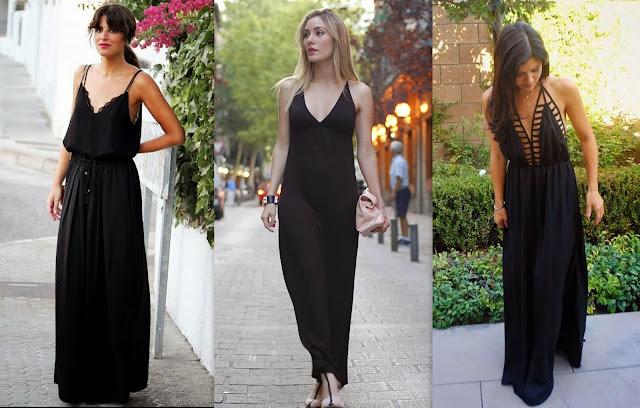 Resultado de imagem para vestido preto e basico pra verão