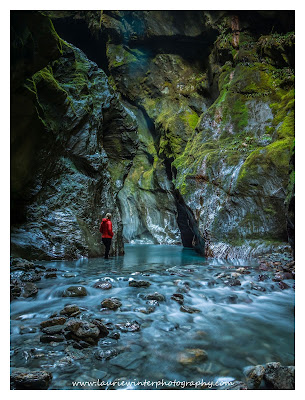 Haast Pass, Slot Canyon, Waterfall