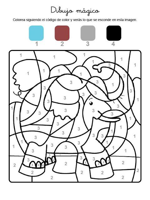 Excepcional Imágenes Ocultas Para Colorear Cresta - Ideas Para ...