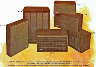 1965 1960ies Fisher XP speaker series models