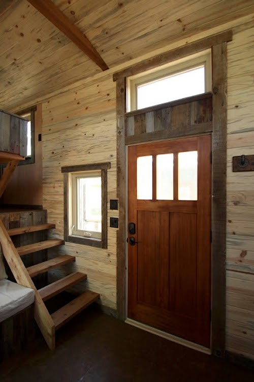 07-Entrance-and-Stairs-to-Bedroom-Sustainable-Architecture-with-a-Tiny-House-on-Wheels-www-designstack-co