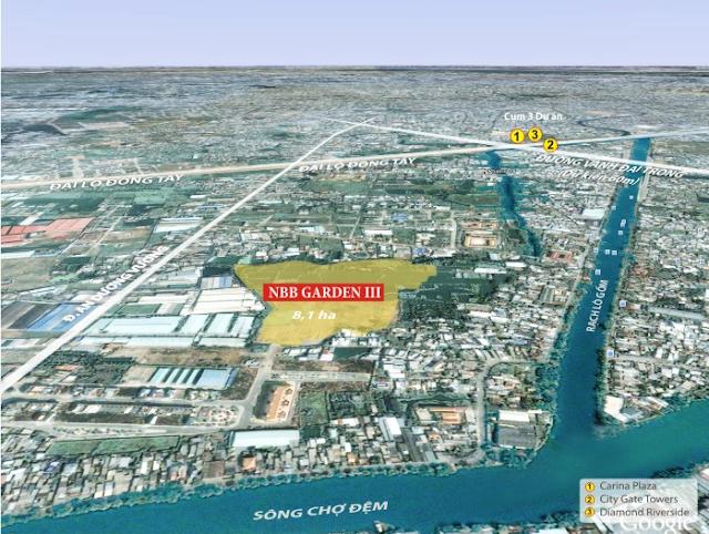Vị trí thực tế Căn hộ City Gate 3 - Chủ đầu tư NBB