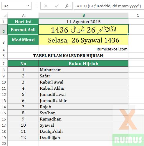 Kalender Hijriah Excel