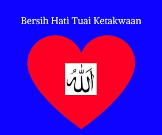 Hati yang bersih penuh keindahan