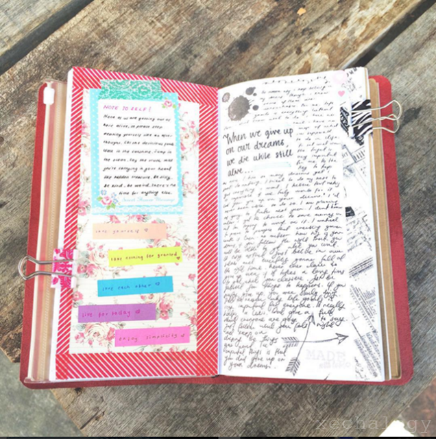 the foxyfix leather journal