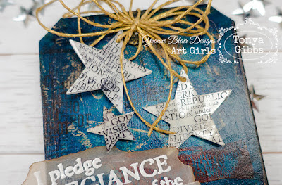 Americana Mixed Media tag by Tonya A. Gibbs for YvonneBlair.com