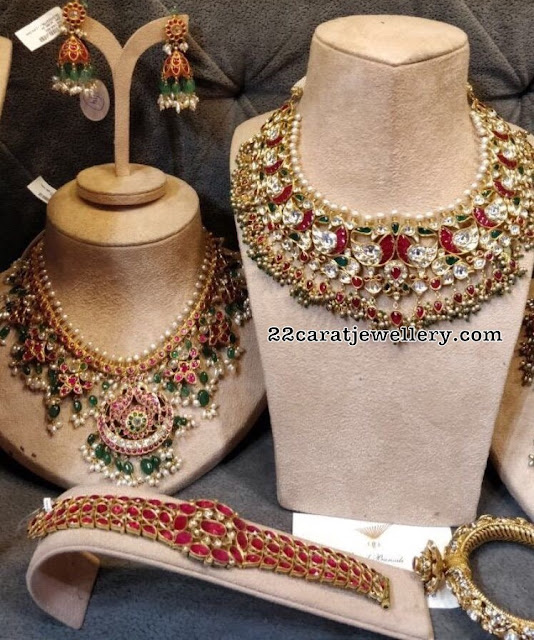 Kundan Chokers with Pearls Drops