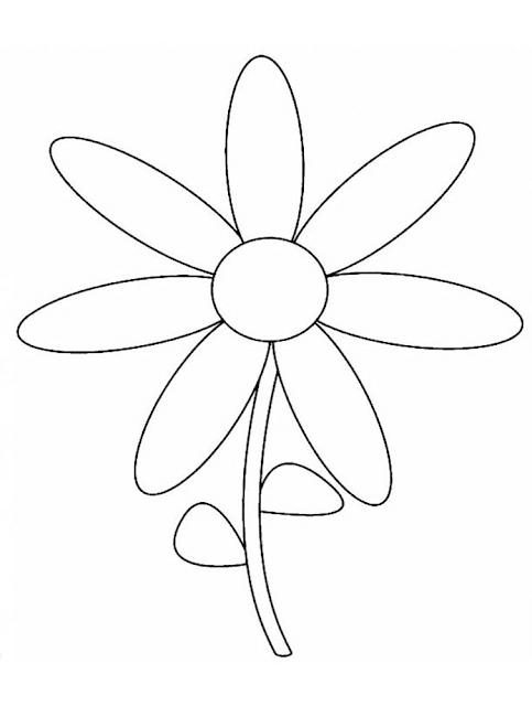 Gambar Mewarnai Bunga - 9