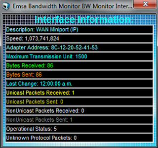 Download Emsa Bandwidth Monitor 1.0 Build 50