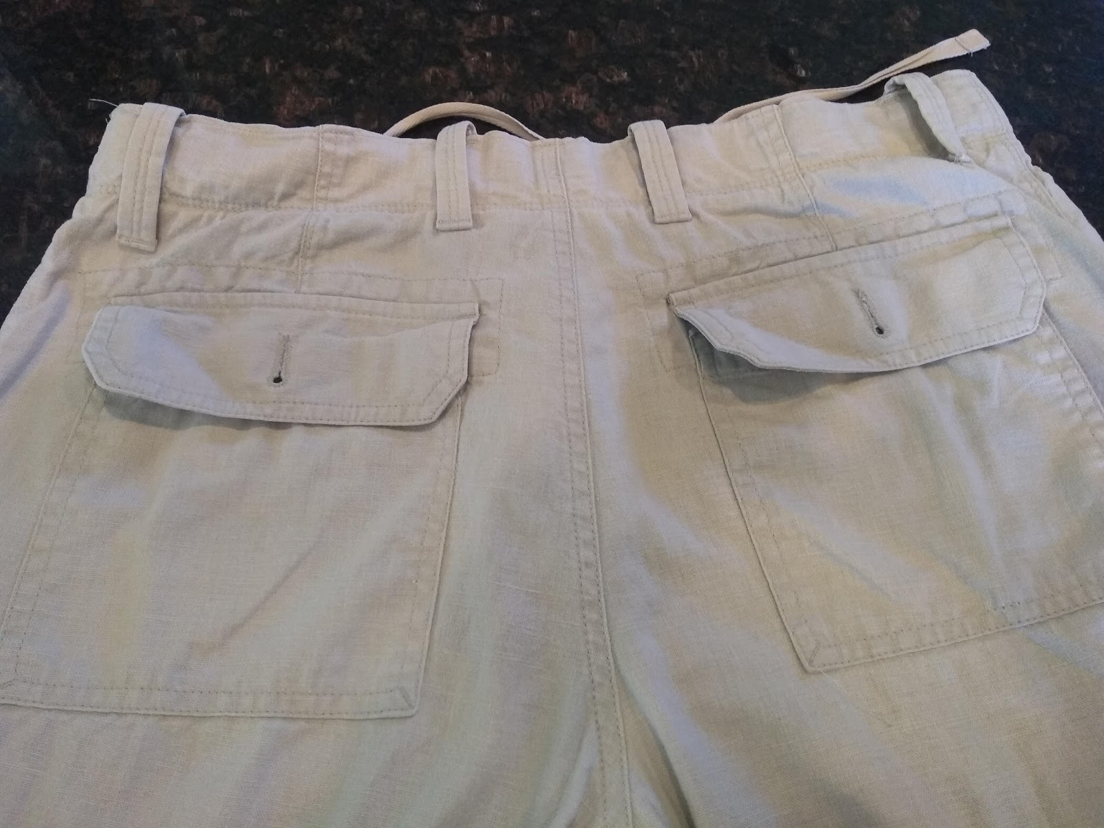 f65db2e3ad519 My Laughing Moon pants pattern that I've never used has a notch in the back  waistband and a