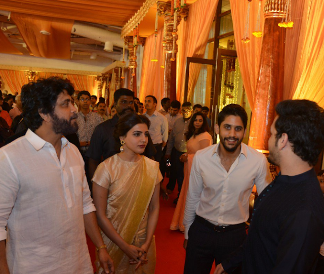 Akkineni Family at Nimmagadda Prasad Daughter Wedding