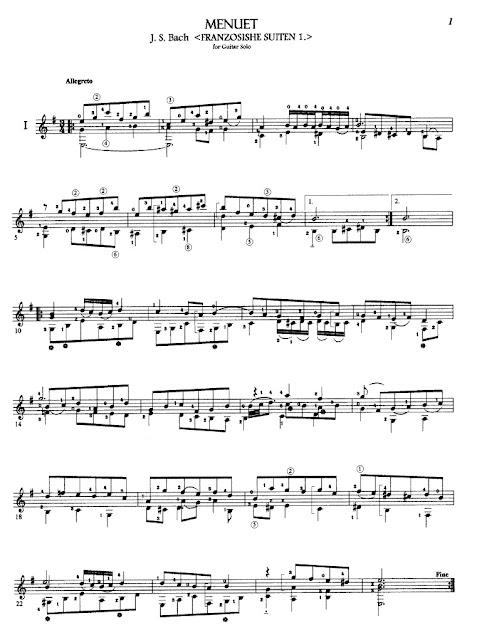 Johann Sebastien Bach - Menuet