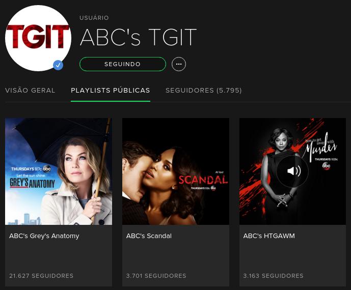 ABCs TGIT no Spotify