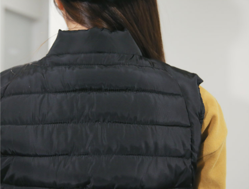 Duck Down Zip Up Padded Vest