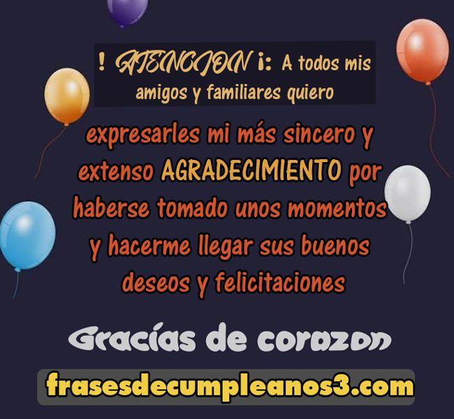 Agradecimiento De Cumpleaños Frases