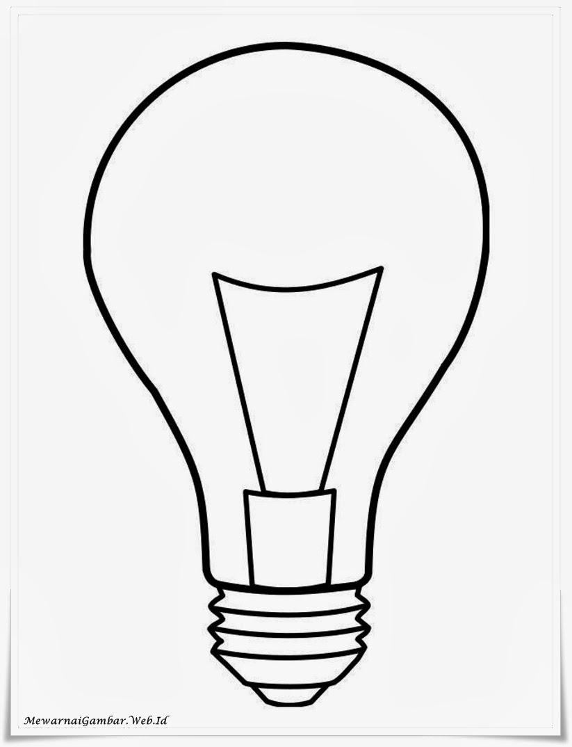 Mewarnai Gambar Lampu Mewarnai Gambar