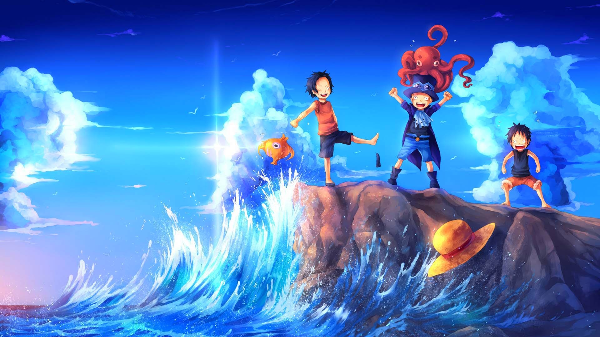 Sabo Luffy and Ace 3n Wallpaper HD
