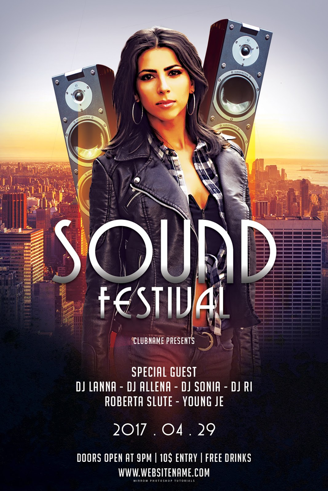 Design a Sound Festival Flyer In Photoshop