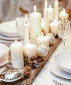 centro de mesa navidad creado con madera de palet