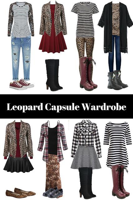 fall capsule wardrobe, capsule wardrobe, leopard print clothes, minimalist closet, small closet, closet basics, funky wardrobe, fun capsule wardrobe, funky capsule wardrobe, capsule wardrobe with personality