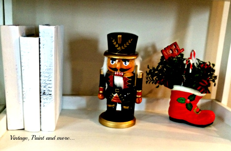 Vintage, Paint and more... nutcracker decor with painted books
