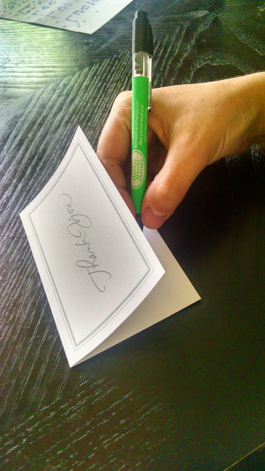 When was the last time you wrote a thank you note?