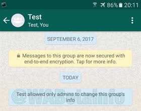 change WhatsApp  group info
