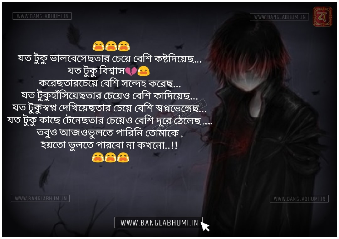Bangla Facebook Sad Love Shayari Status Free Download and share