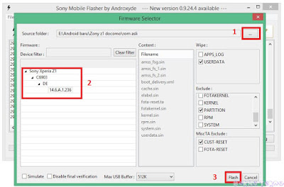 Sukses! Cara Flashing Sony Xperia Z1 Docomo (SO-01F) Via Flashtool Dengan Firmware Sony Xperia Z1 (C6903)