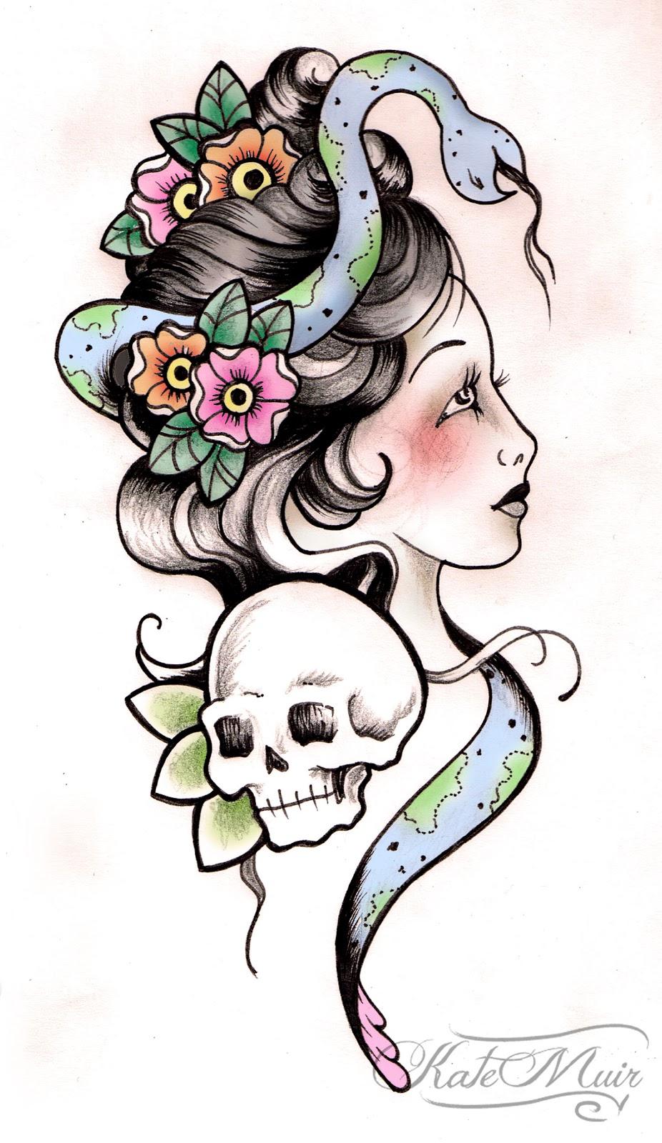 Snake Skull Tattoo: Magazine Tatoo