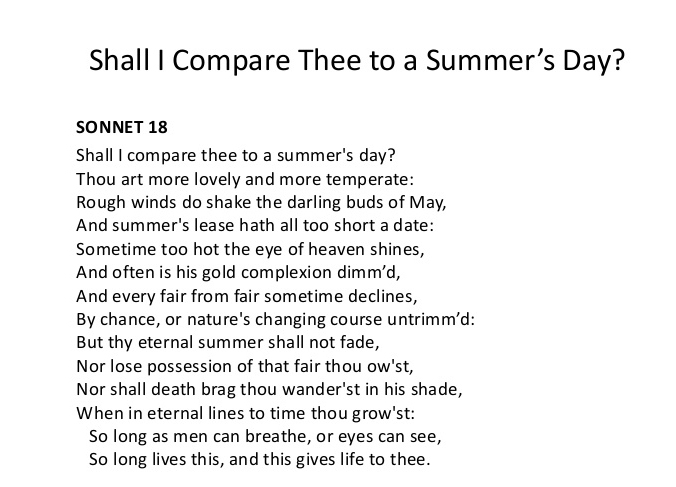essay on shall i compare thee