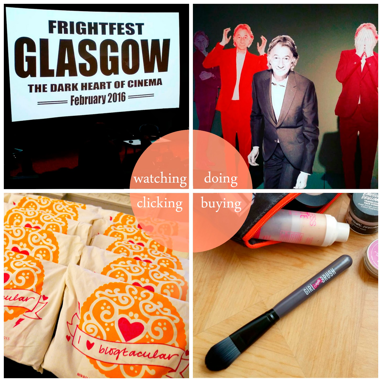 Helen's February Round Up, Blogger best bits, Scottish blogger, Fright Fest Glasgow 2016, Hello My Name is Paul Smith, Girl Meets Brush, Blogtacular