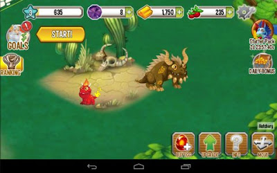 Tampilan Game Dragon City