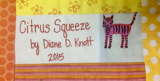 scrap quilt secrets diane knott design techniques book label citrus squeeze