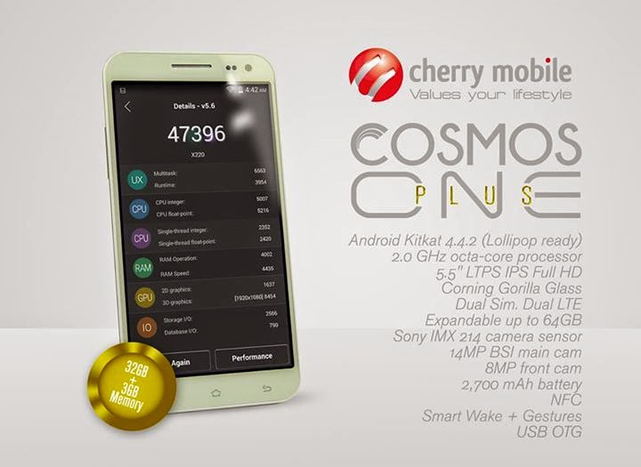 Cherry Mobile Cosmos One Plus