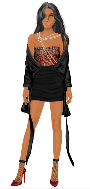 stardoll silk strap coat le shoes vinyl socks strike a pose top stacy-g
