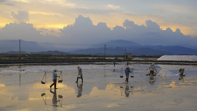 Immense salt fields boast their stunning beauty in scorching sun 2