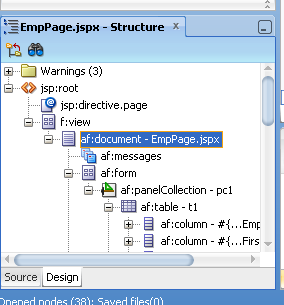 af:document tag in Oracle ADF