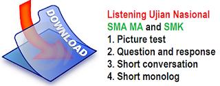 download soal transcript audio MP3 litening bahasa Inggris
