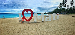 I love Mati sign in Dahican