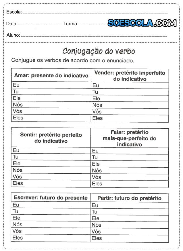 Suficiente Atividades de português 5° ano — SÓ ESCOLA FG61