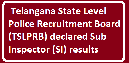 ww.tslprb.in Telangana State Level Police Recruitment Board (TSLPRB) declared Sub Inspector (SI) results. Candidates who had written the examination can check the TS SI Prelims Results 2016 from the direct link provided below. About 5 lakh candidates appeared for the Telangana SI prelims examination. All the candidates who had appeared for the exam can check the results now from the direct link provided below./2016/04/telangana-ts-si-prelims-results-2016.html