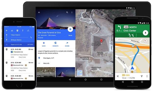 Aplikasi Google Maps di Android