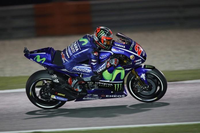 MotoGP Qatar 2017 : Sesi kualifikasi batal karna cuaca buruk, Vinales akan start paling depan disusul Iannone dan Marquez