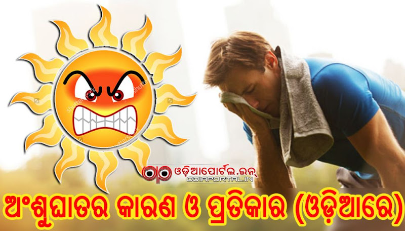 Sunstroke or Heatstroke - Causes, Symptoms & Home Treatments (Read in Odia/PDF), treatment of loo, sunstroke, ansughata, odisha high temperature, odia, odia health tips,