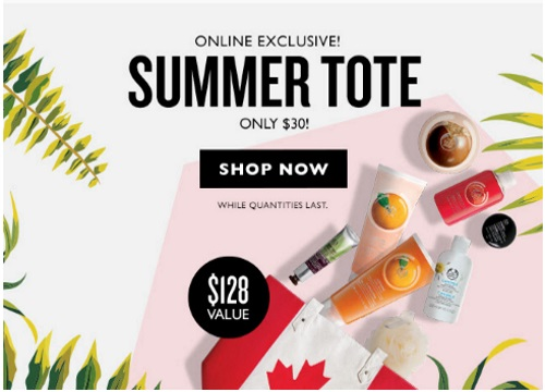 The Body Shop Buy 3 Get 3 Free + Summer Tote