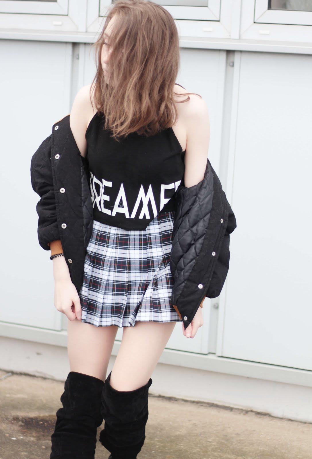 style inspiration winter spring tennis skirt