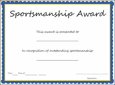 Free Award Certificate Templates For Sports Bhazc