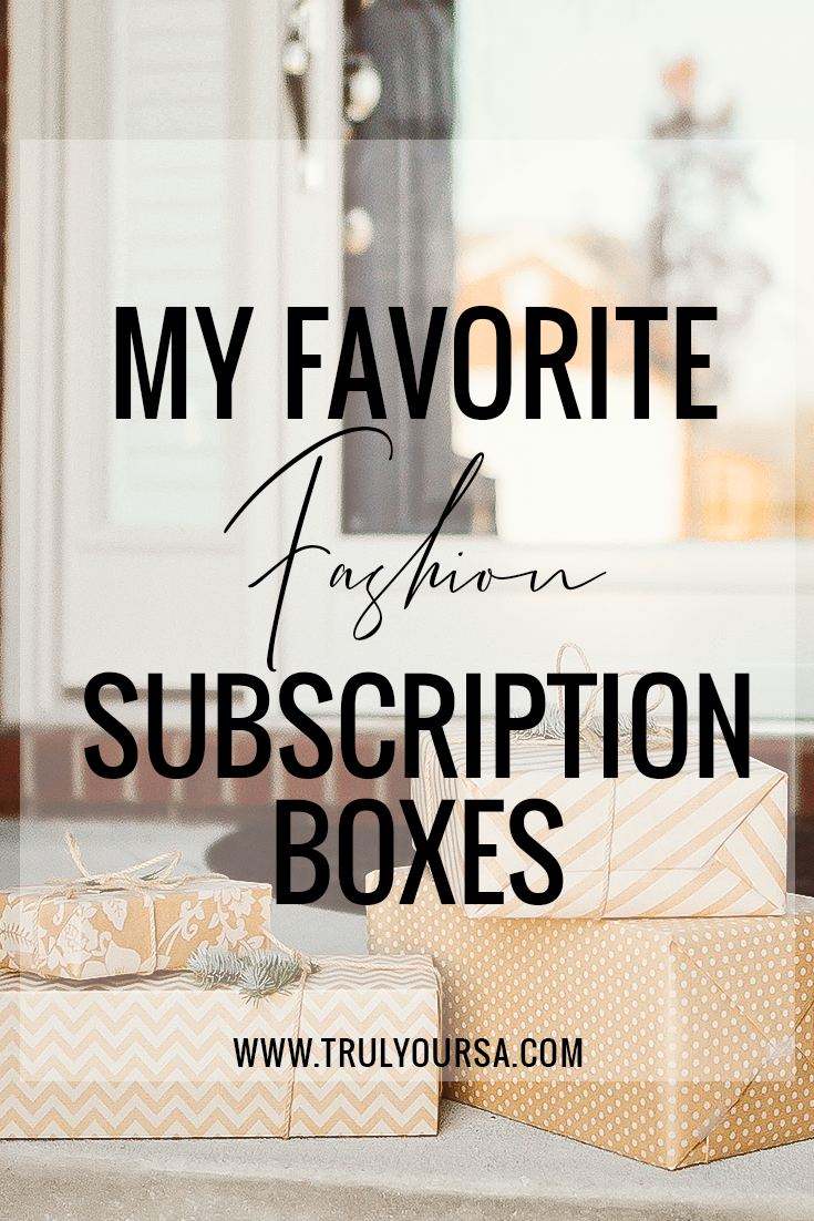 Weekly confession time: I am a subscription box addict, especially fashion-oriented subscription boxes. They make shopping for new clothes and jewelry a breeze because I never have to leave my home! I've written all about my experiences with subscription boxes on this blog for years, but today I'm compiling a list of my absolute faves so keep reading to find out what they are and save some money on trying them out for yourself! #subscriptionboxreview #rocksbox #stitchfix #letote #thirdlove