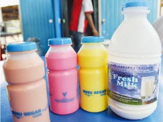 gambar susu lembu segar pasaran Malaysia